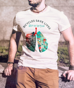 Bicycles save lives - lungs - graphic and product design by Crystal Smith