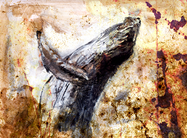 acrylic and digital painting of humpback whale by west coast artist Crystal Smith